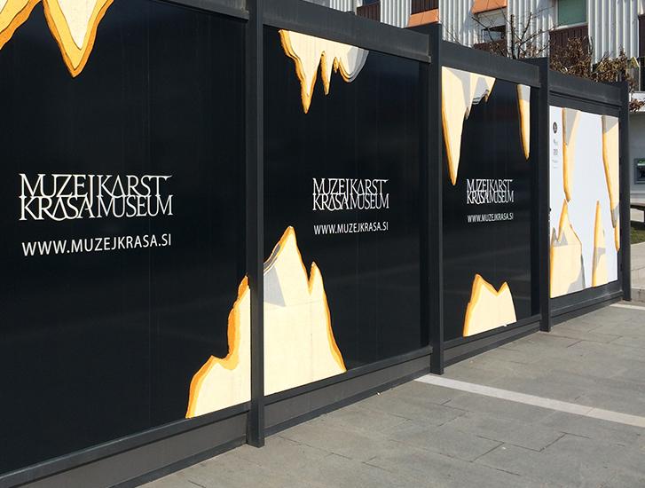 Muzej krasa gigant grafično oblikovanje
